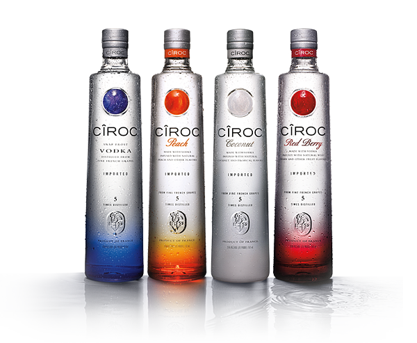 Ciroc Vodka – premium grape vodka